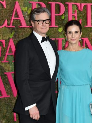 greencarpet livia firth collin firth fashion awards